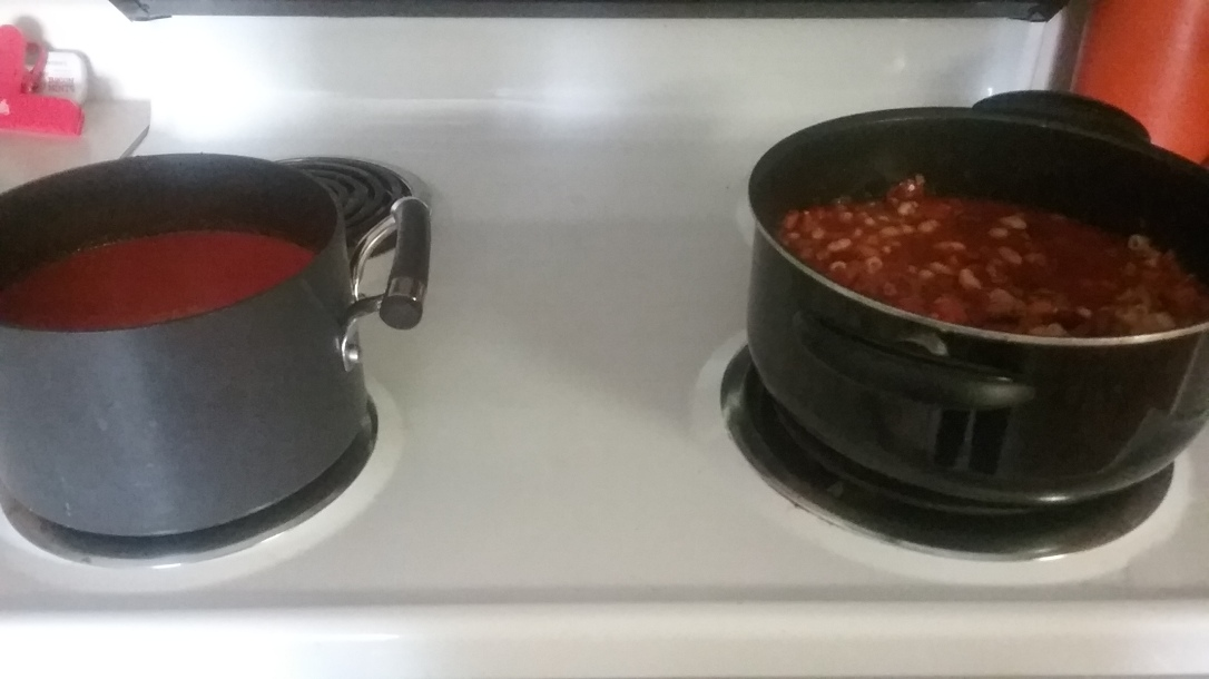 Two soups cooking at one time
