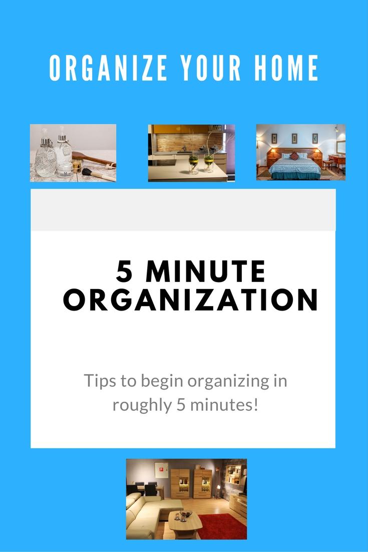 5 minute organization